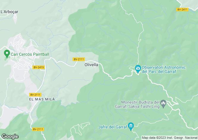 Map for Catalonia, Barcelona, Olivella