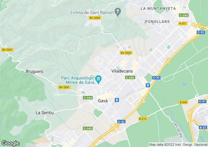 Map for Viladecans, Barcelona, Catalonia