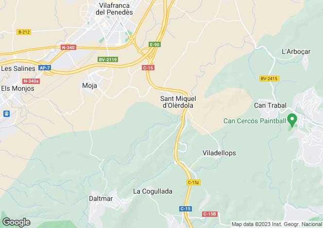 Map for Olerdola, Barcelona, Catalonia