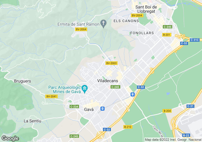 Map for Viladecans, Barcelona, Catalonia