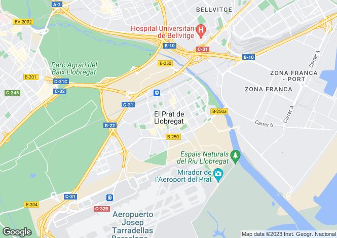 Map for El Prat de Llobregat, Barcelona, Catalonia