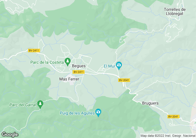 Map for Begues, Barcelona, Catalonia