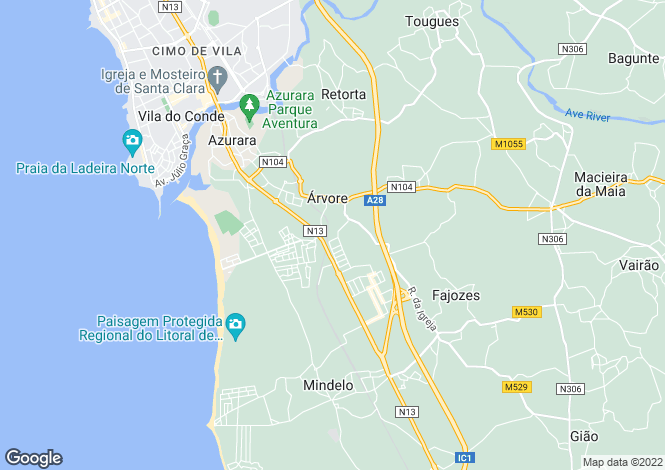 Map for Oporto, Árvore