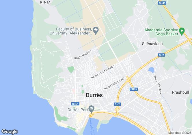Map for Durrës, Durrës