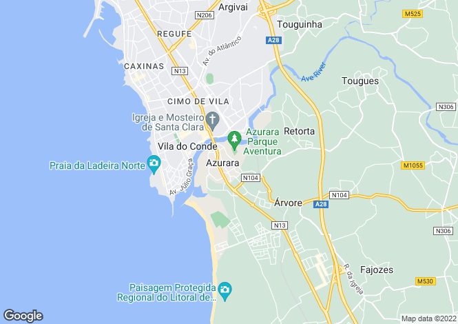 Map for Oporto, Vila do Conde