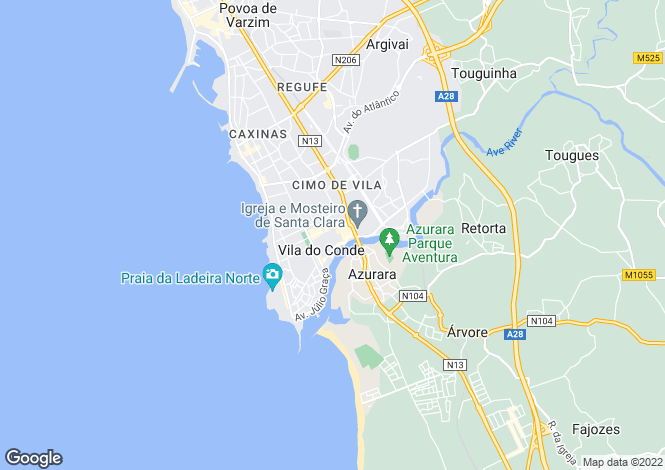Map for Vila do Conde, Vila do Conde, Porto