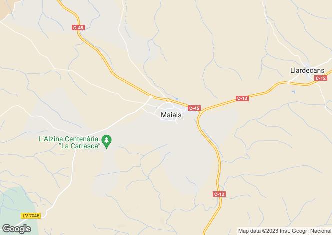Map for Maials, Lleida, Catalonia