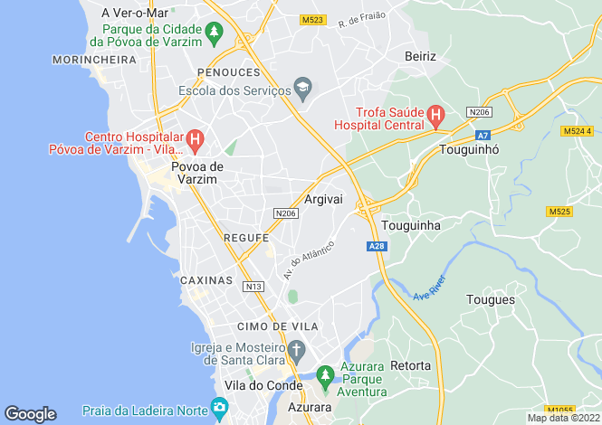 Map for Portugal,Porto,Póvoa de Varzim