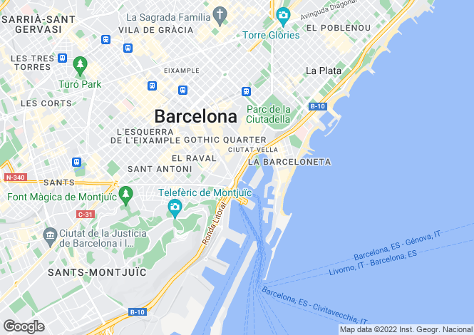 Map for Gotic, Barcelona