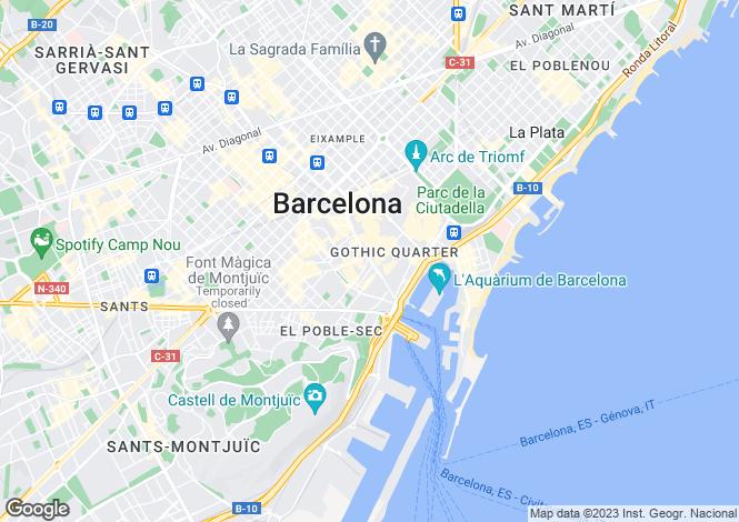 Map for Las Ramblas