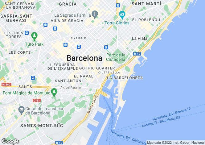 Map for Ataulf 7, Barcelona, Catalonia, Spain