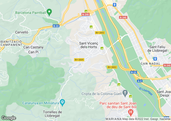 Map for Catalonia, Barcelona, Sant Vicenç dels Horts