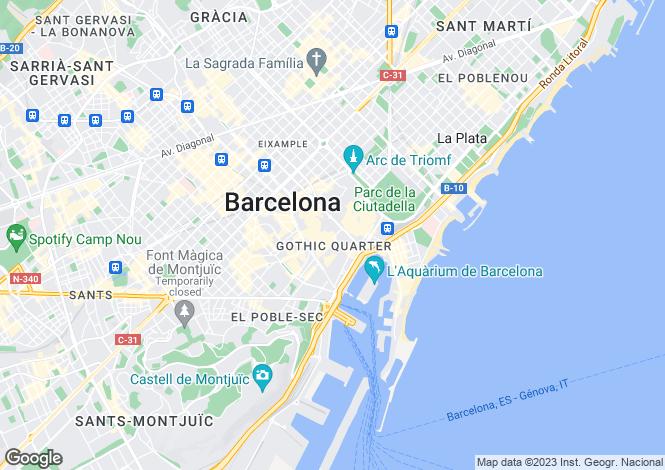 Map for Gotic, Barcelona