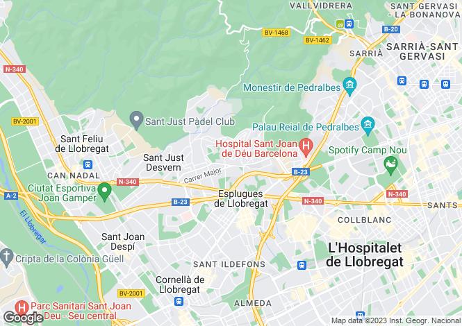 Map for Spain, Barcelona, Sant Just Desvern, BCN10647