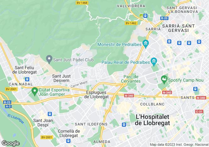 Map for Esplugues de Llobregat, Barcelona, Catalonia