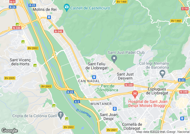 Map for Spain, Cataluña, Barcelona, Sant Feliu de Llobregat