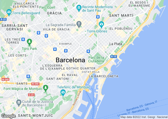 Map for Borne, Barcelona