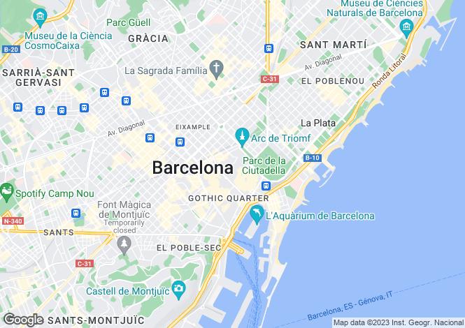 Map for Borne, Barcelona