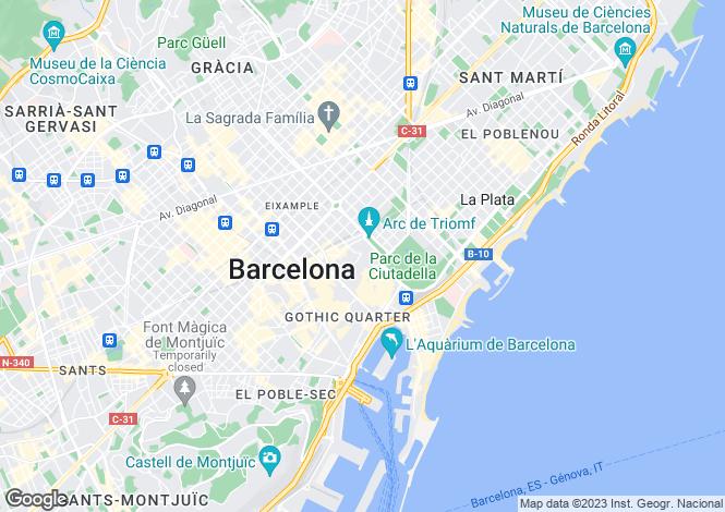 Map for Barcelona, Barcelona, Spain