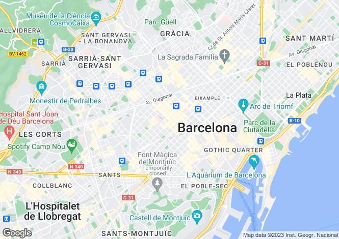 Map for Barcelona, Barcelona