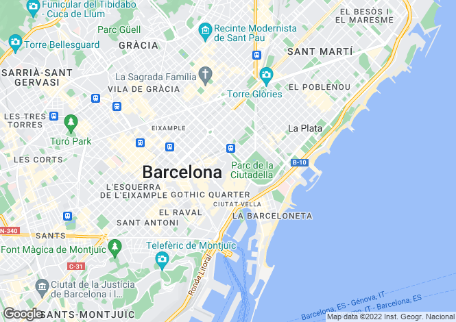 Map for Barcelona, Barcelona, Spain