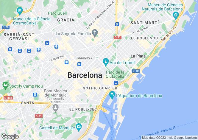 Map for Calle Trafalgar, Barcelona, Barcelona, 08010, Spain