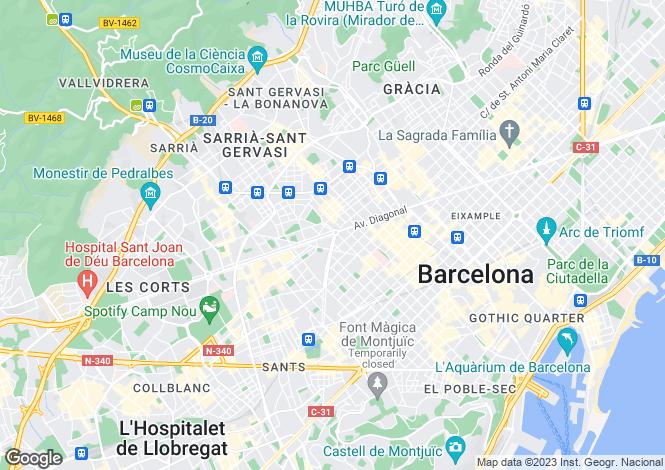 Map for Barcelona, Barcelona, Catalonia