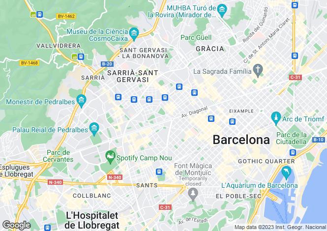 Map for Penthouse Apartment, Turó Park, Barcelona, Spain