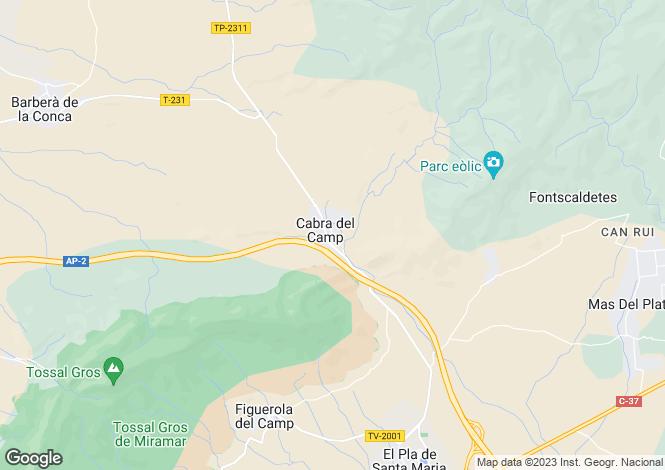 Map for Cabra del Camp, Tarragona, Catalonia