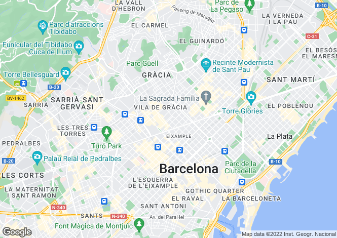 Map for Gracia, Barcelona