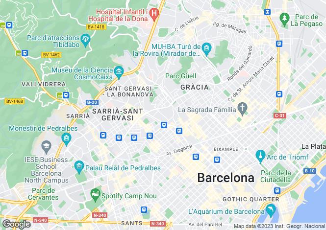 Map for Francoli Street, Putxet District, Barcelona, Spain
