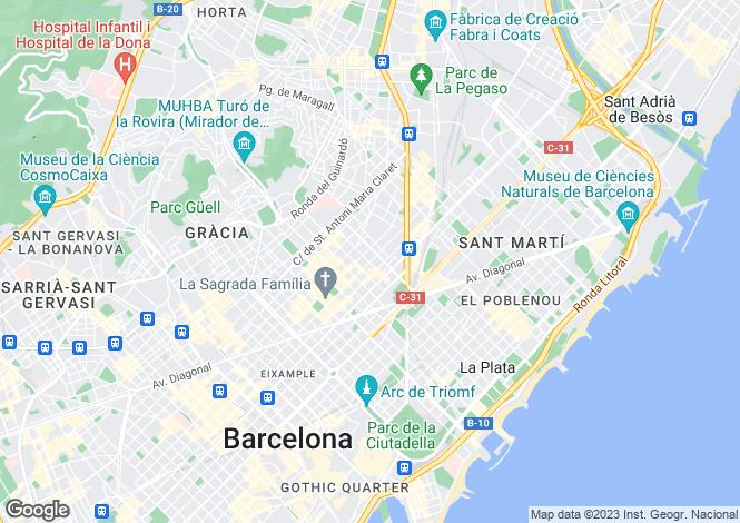 Map for Barcelona, Spain