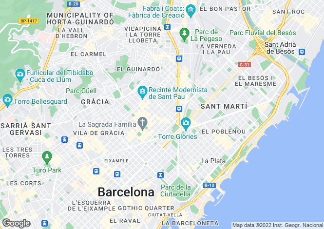 Map for Barcelona, Spain