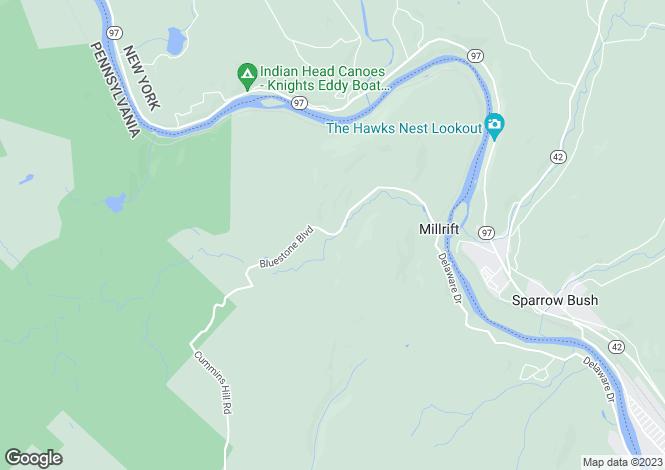 Map for Pennsylvania, Millrift