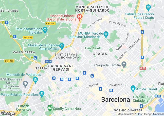 Map for Putxet, Barcelona