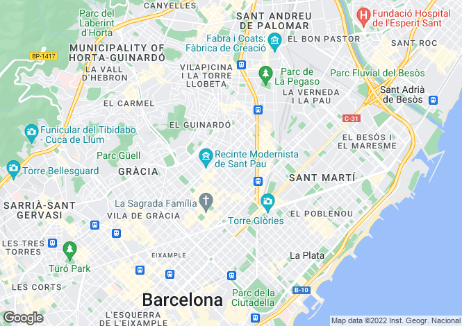 Map for Clot, Barcelona