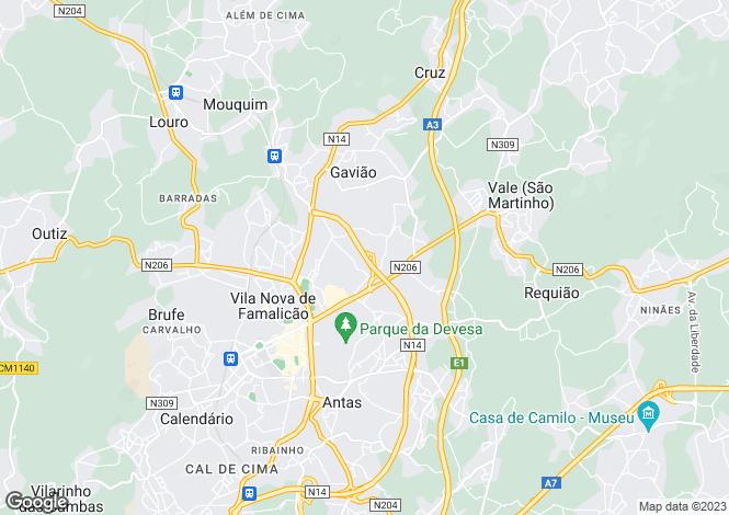 Map for Minho, Vila Nova de Famalicão
