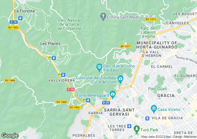 Map for Sarria, Barcelona
