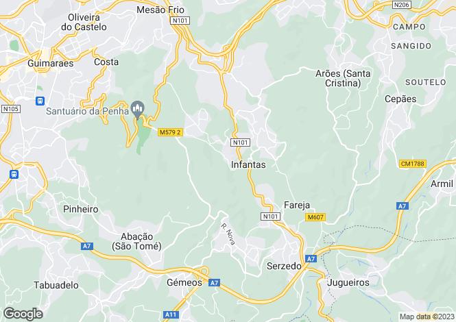 Map for Minho, Guimarães