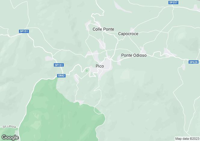 Map for Pico, Frosinone, Lazio