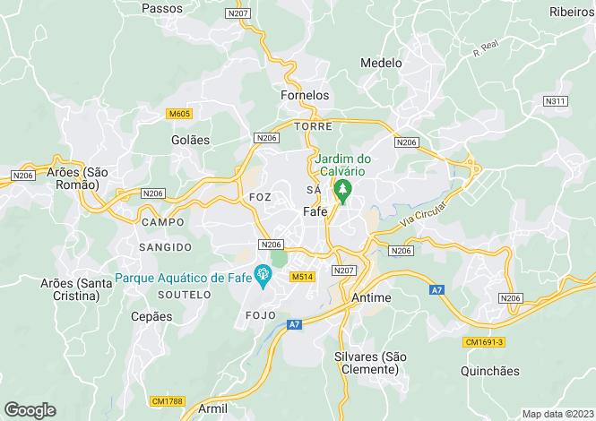 Map for Minho, Fafe