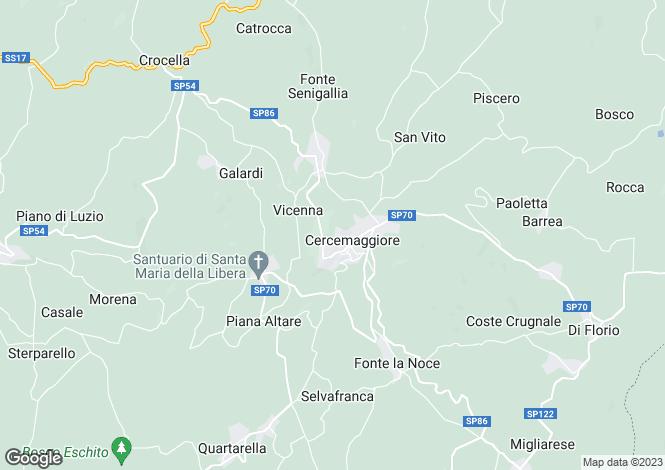Map for Molise, Campobasso, Cercemaggiore