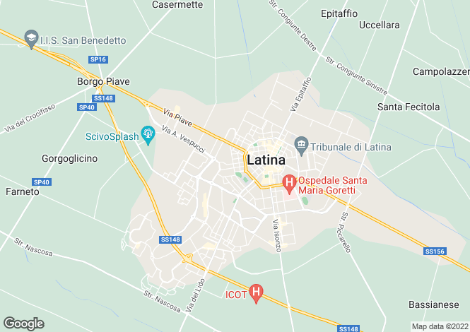 Map for Itri, Latina