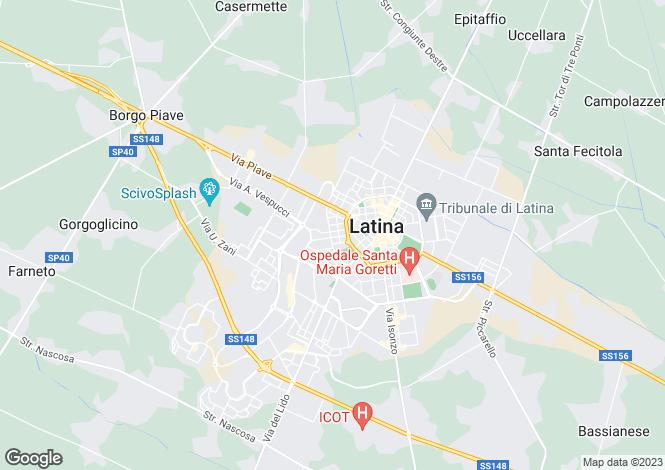 Map for Latina, Latina, Lazio