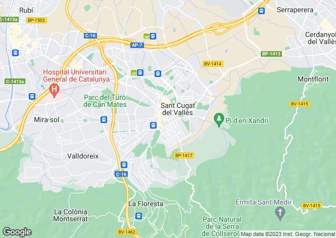 Map for Catalonia, Barcelona, Sant Cugat del Vallès