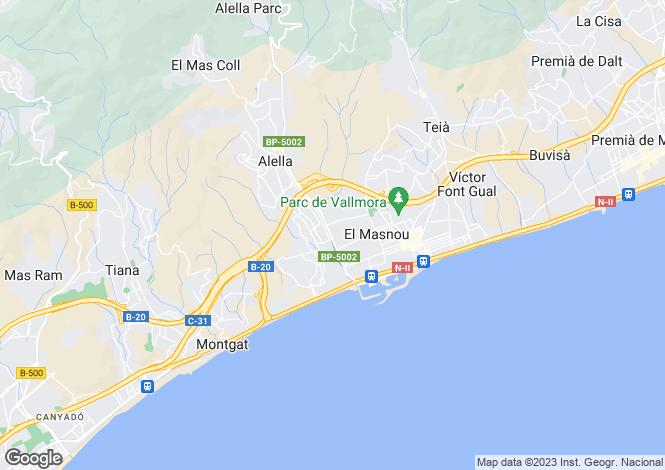 Map for Catalonia, Barcelona, El Masnou