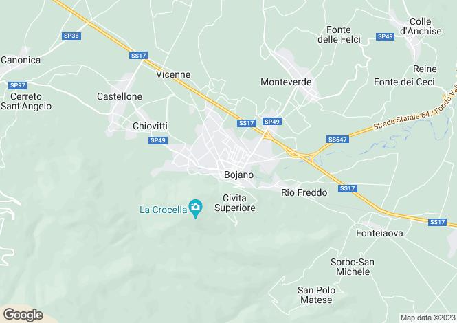 Map for Molise, Campobasso, Bojano