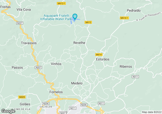 Map for Minho, Fafe