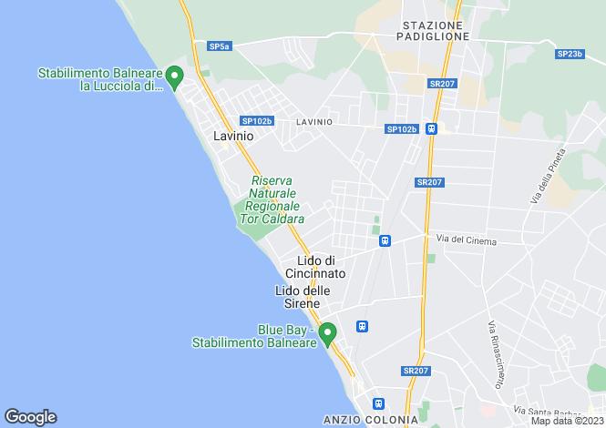 Map for Lazio, Rome, Lavinio-Lido di Enea