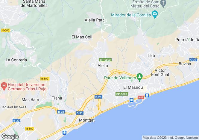Map for Catalonia, Barcelona, Alella